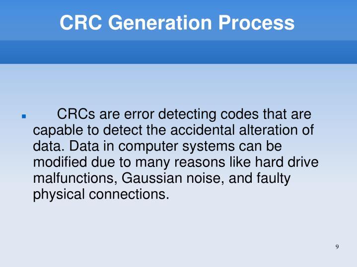 CRC Generation Process