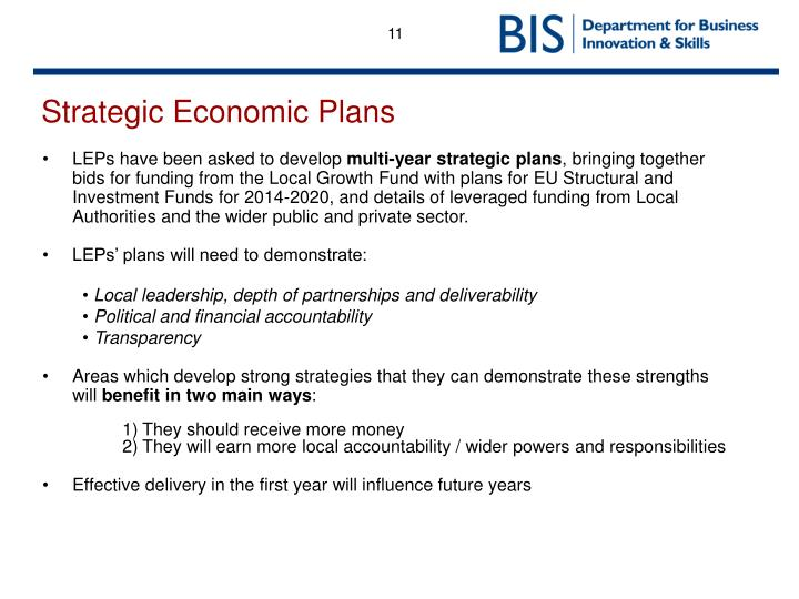 Strategic Economic Plans