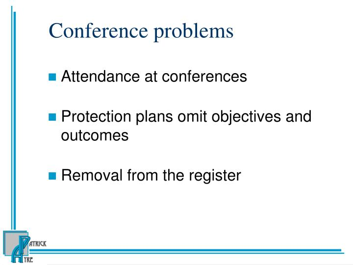 Conference problems