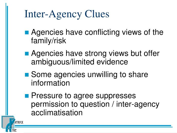 Inter-Agency Clues
