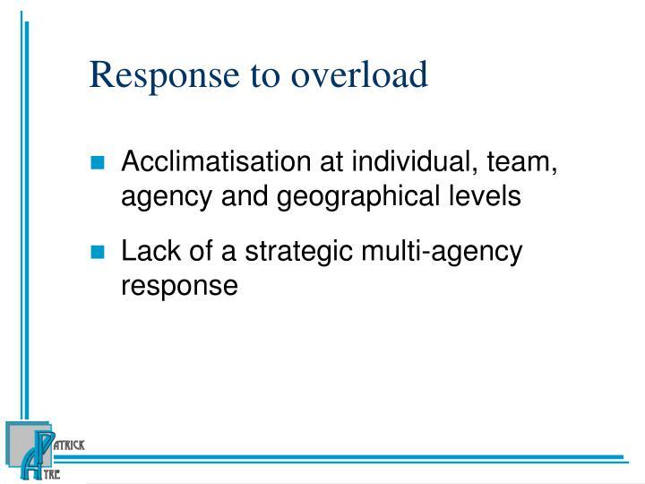 Response to overload