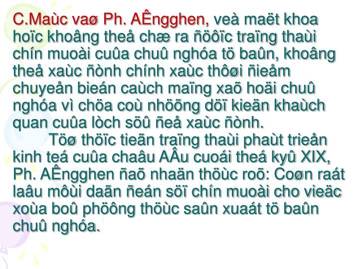 C.Maùc vaø Ph. AÊngghen,