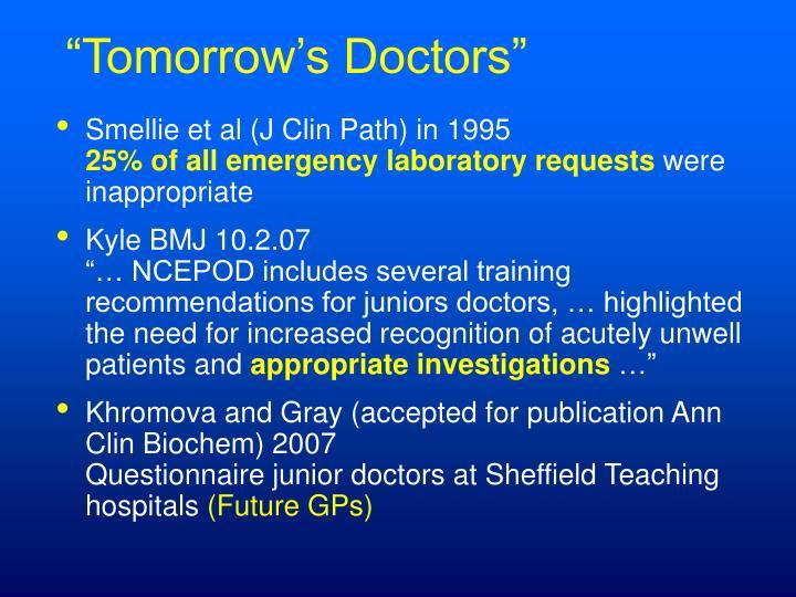 """""""Tomorrow's Doctors"""""""