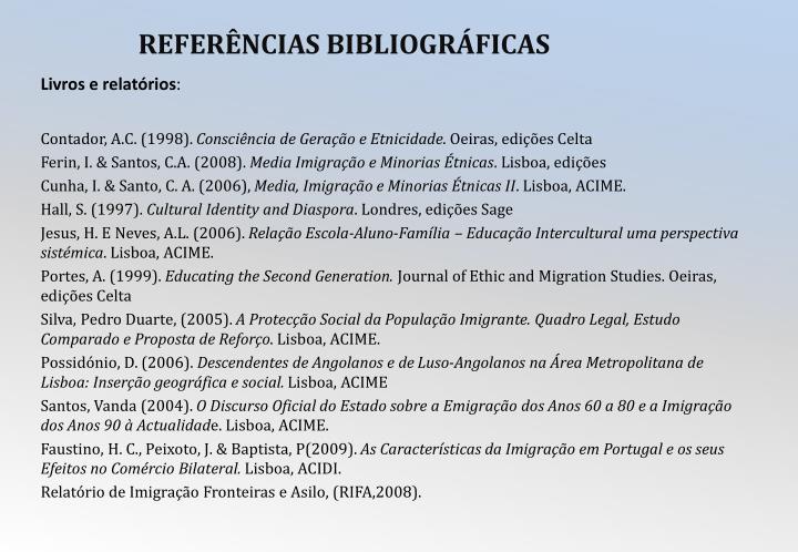 Livros e relatórios