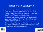 when can you apply