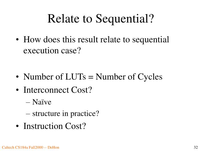 Relate to Sequential?