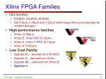 xilinx fpga families