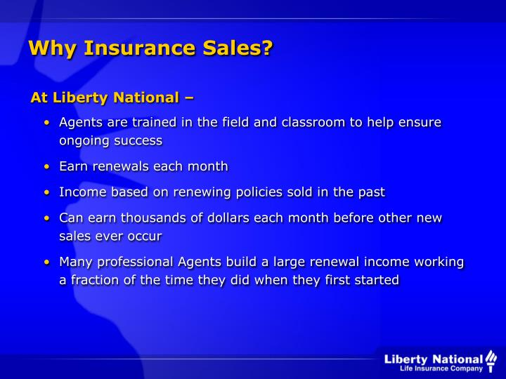 Why Insurance Sales?