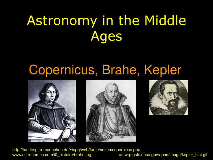 Astronomy in the middle ages