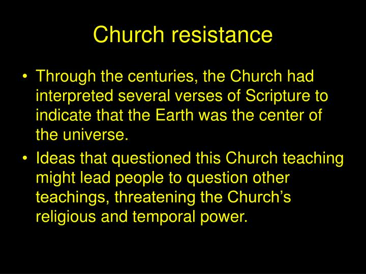 Church resistance