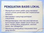 penguatan basis lokal
