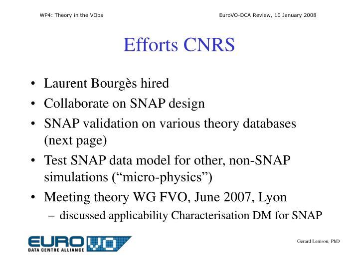 Efforts CNRS