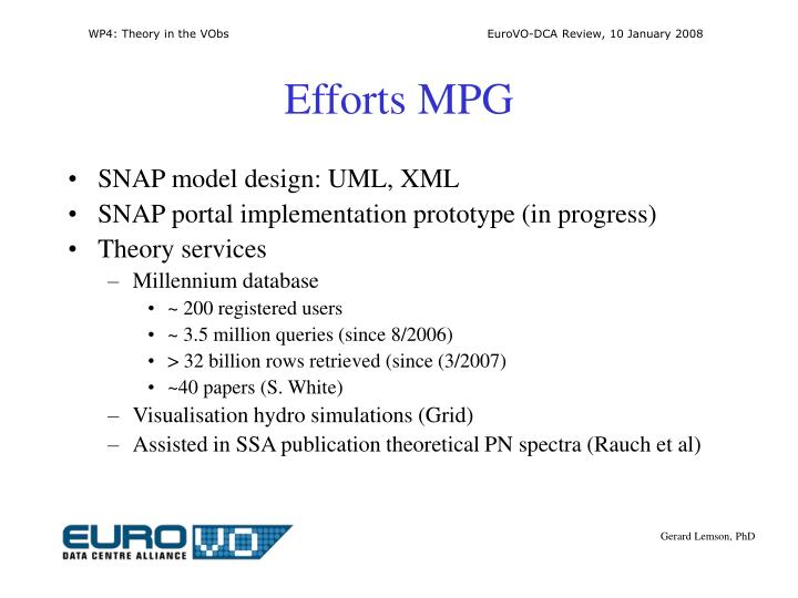 Efforts MPG