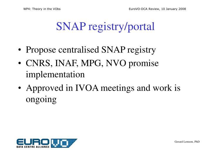 SNAP registry/portal