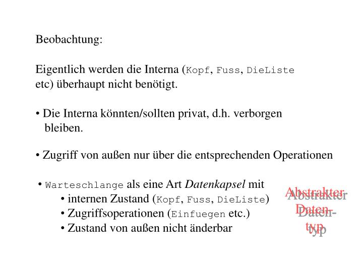 Beobachtung: