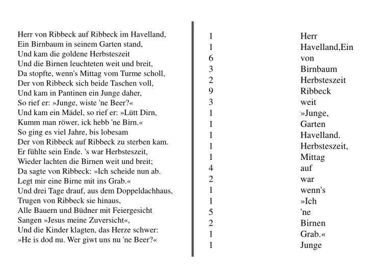 Herr von Ribbeck auf Ribbeck im Havelland,