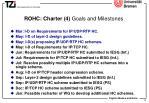 rohc charter 4 goals and milestones