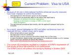 current problem visa to usa