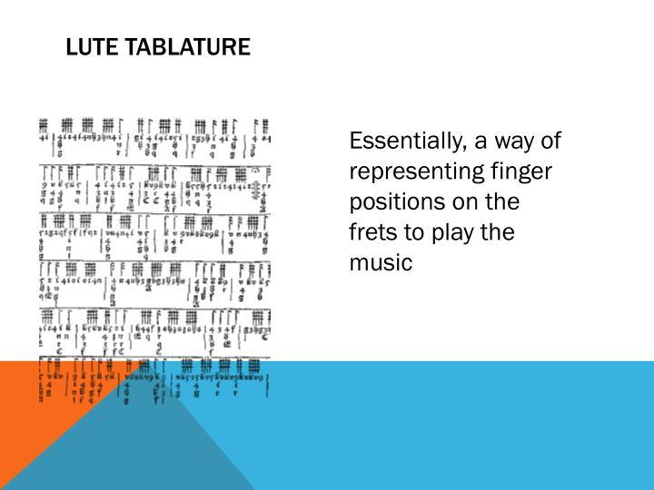 Lute tablature