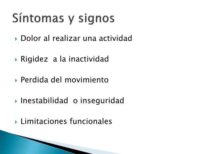 Síntomas y signos