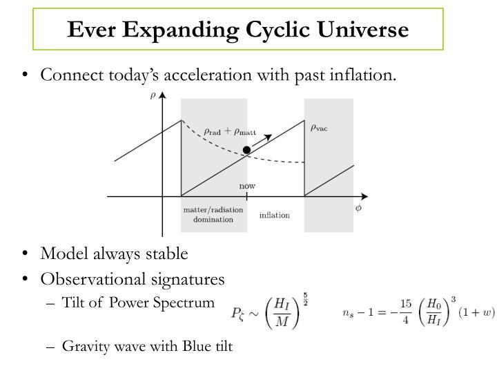 Ever Expanding Cyclic Universe