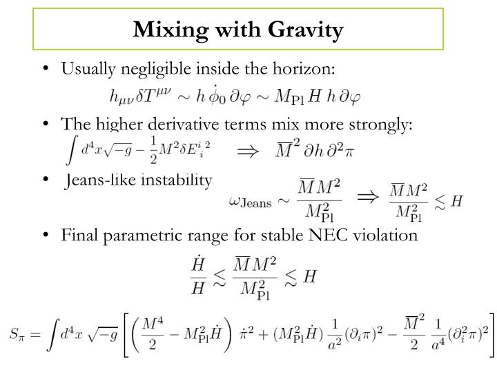 Mixing with Gravity