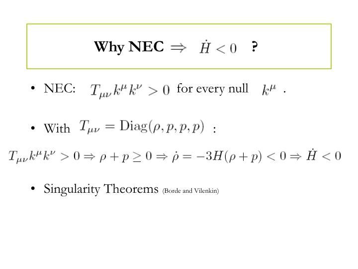 Why NEC                      ?