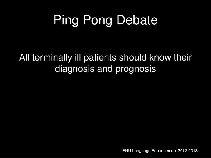 Ping Pong Debate