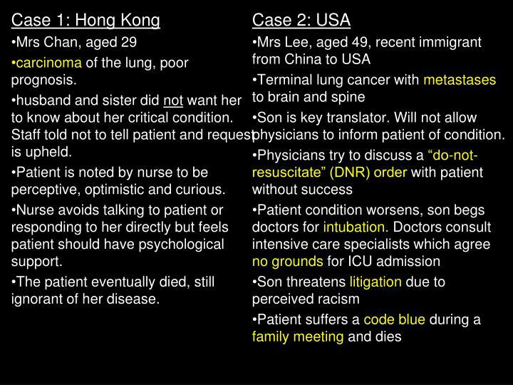 Case 1: Hong Kong