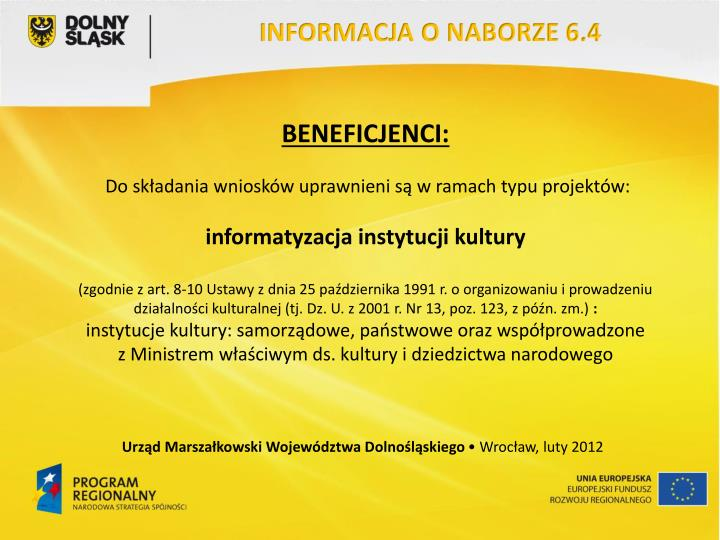 INFORMACJA O NABORZE 6.4