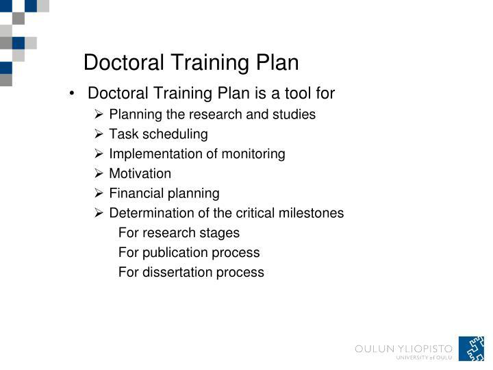 Doctoral Training Plan