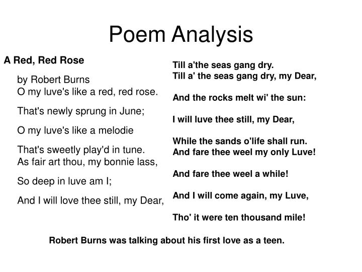 Poem Analysis