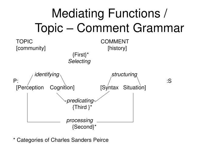 Mediating Functions /
