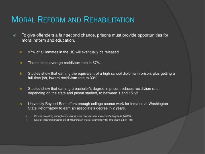 Moral Reform and Rehabilitation