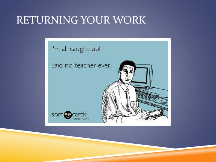 Returning Your Work