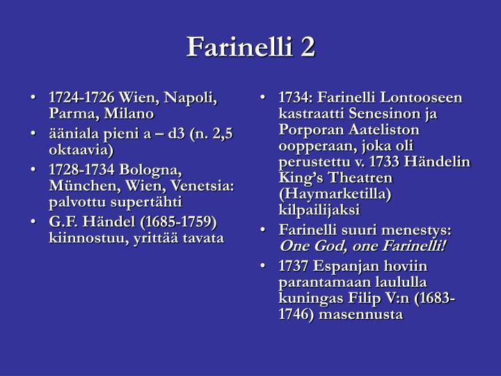 1724-1726 Wien, Napoli, Parma, Milano