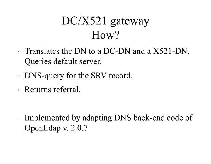 Dc x521 gateway how