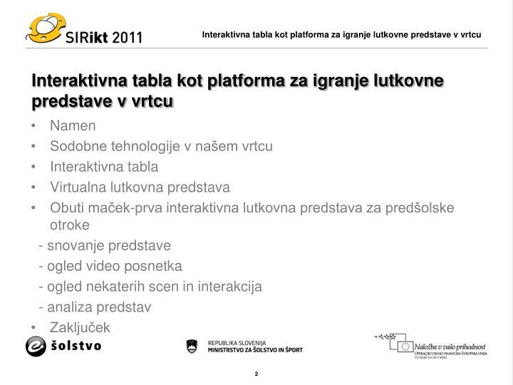 Interaktivna tabla kot platforma za igranje lutkovne predstave v vrtcu1