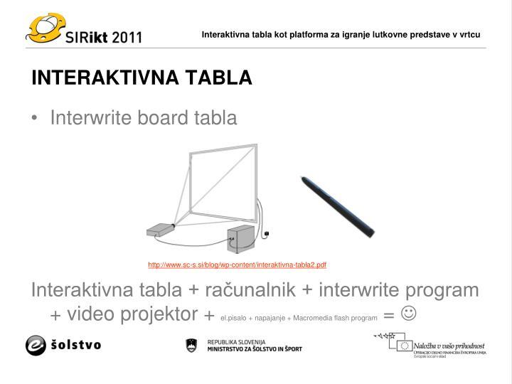 INTERAKTIVNA TABLA
