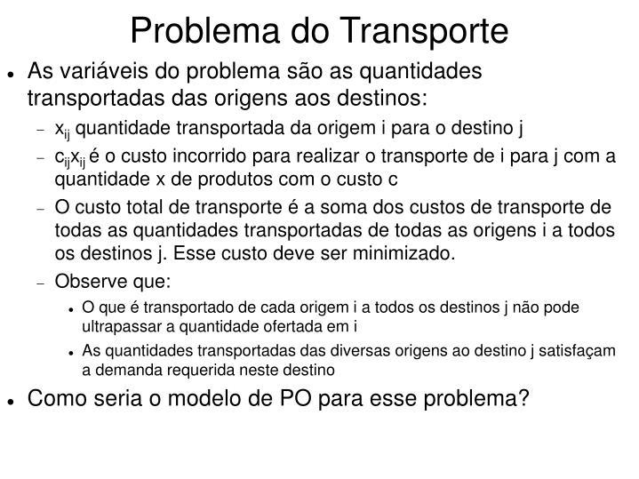Problema do transporte1