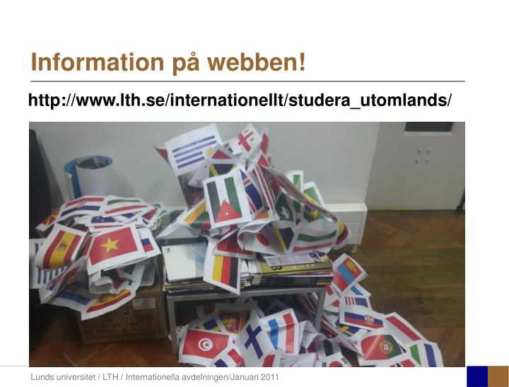 Information på webben!