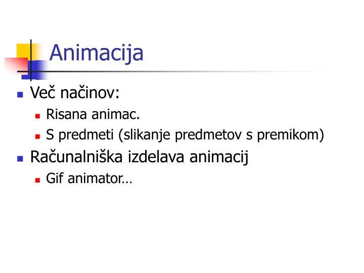 Animacija