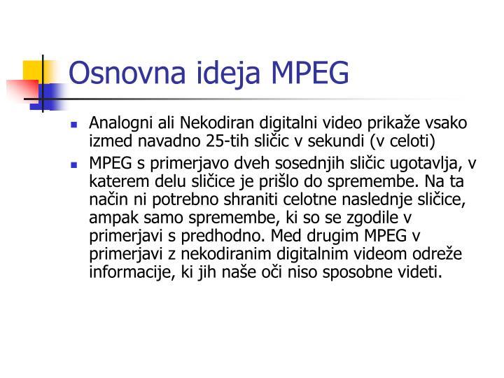 Osnovna ideja MPEG