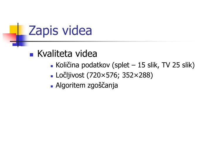 Zapis videa