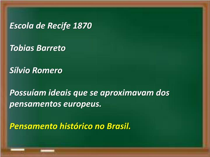 Escola de Recife 1870