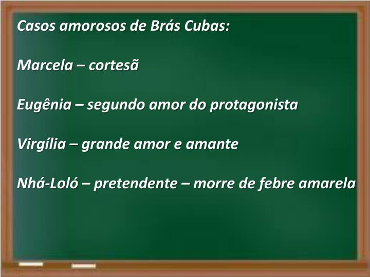 Casos amorosos de Brás Cubas: