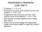 headmaster s headache uva 108171