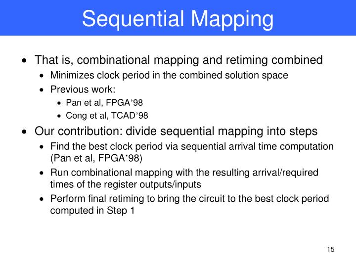 Sequential Mapping