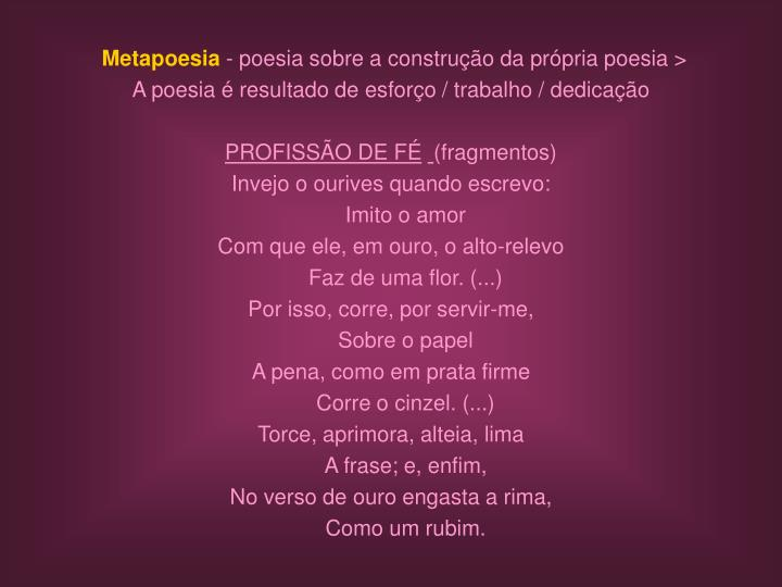 Metapoesia