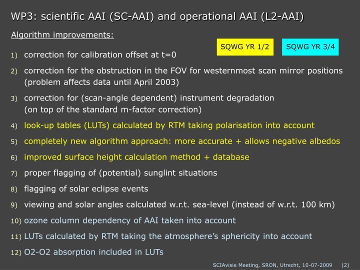 Wp3 scientific aai sc aai and operational aai l2 aai